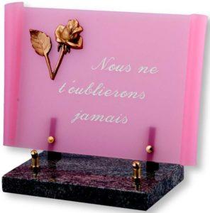 plaque-funeraire-parchemin-rose-sfvp